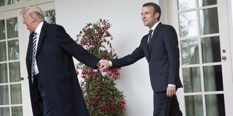 Photos - Les moments les plus gênants entre Emmanuel Macron et Donald Trump en images