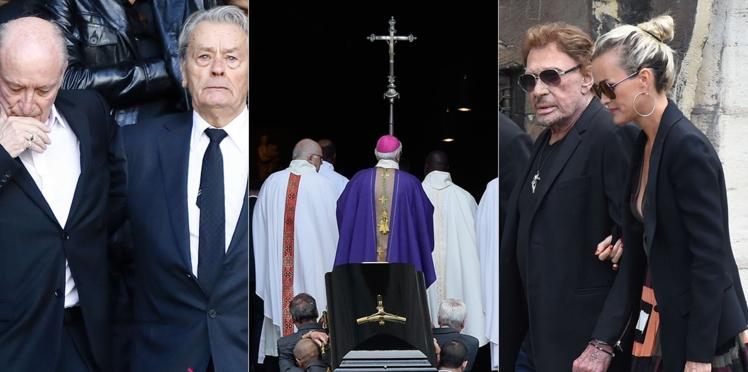 Photos - Johnny et Laeticia Hallyday,  Jack Lang, Carla Bruni, Alain Delon, Pascal Desprez… Tous présents pour un dernier adieu à Mireille Darc