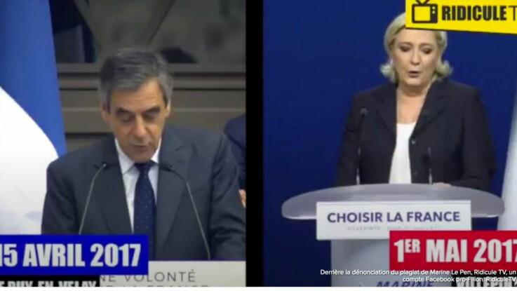 Plagiat en vidéo: Marine Le Pen reprend un discours de François Fillon