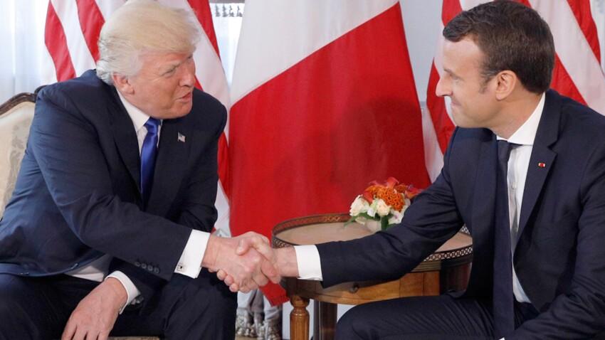 Vidéo - La poignée de main très musclée d'Emmanuel Macron à Donald Trump amuse le web