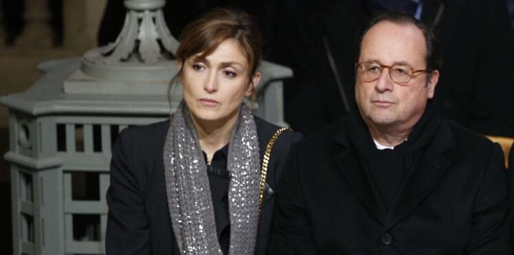 Première apparition publique pour François Hollande et Julie Gayet, ensemble pour l'hommage à Johnny Hallyday