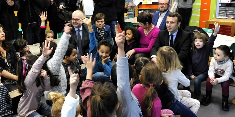 Emmanuel Macron chahuté par des élèves de maternelle