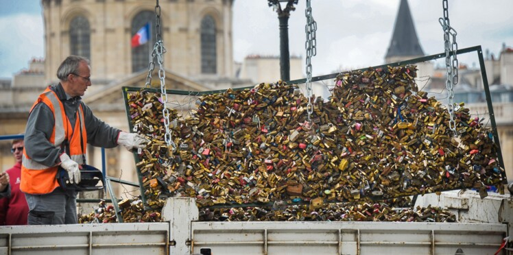 Paris : les cadenas d'amour du pont des Arts, c'est fini