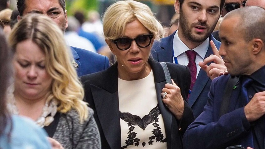 Photos - La robe que Brigitte Macron portait à New York n'a pas fait l'unanimité