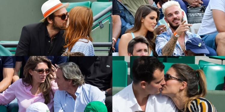 Photos : les stars, amoureuses à Roland Garros