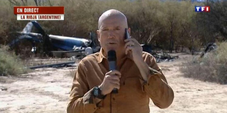 TF1 choque avec un duplex de Louis Bodin sur les lieux de l'accident de Dropped