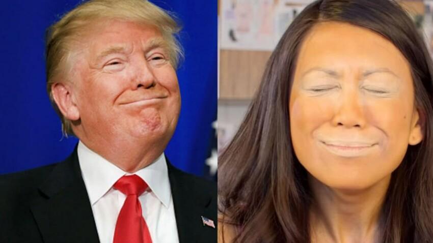 """Le """"trumping"""" ou l'art de se maquiller comme Donald Trump"""