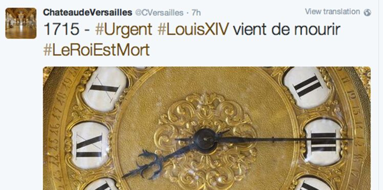 Twitter annonce en temps réel l'agonie et la mort de Louis XIV