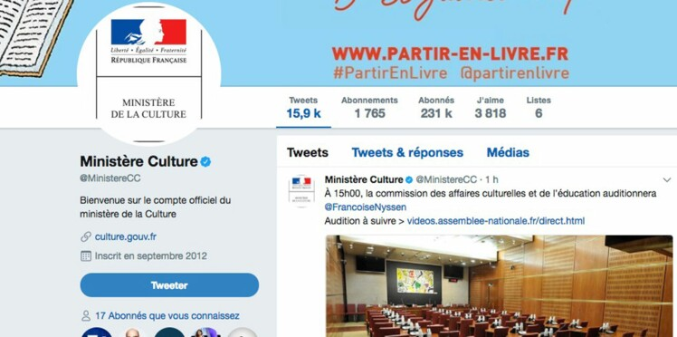 Un ado détourne le compte Twitter du ministère de la Culture et insulte les internautes