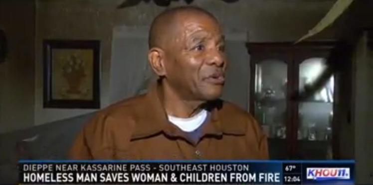 Un SDF sauve une famille d'un incendie