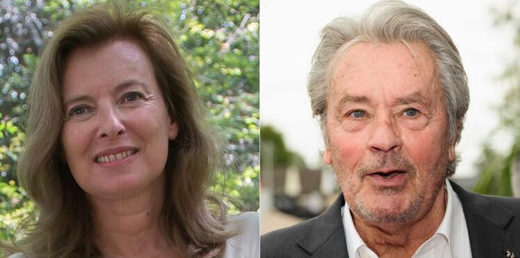 Valérie Trierweiler en couple avec Alain Delon ? Elle répond