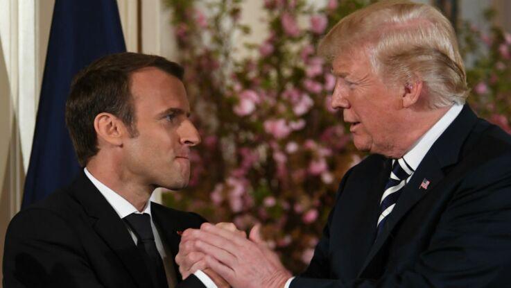 Vidéo - Quand Donald Trump se permet d'enlever les pellicules de la veste d'Emmanuel Macron