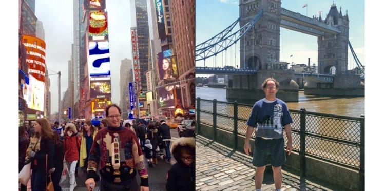 VIDEO – Insolite : il se tricote des pulls des endroits qu'il visite