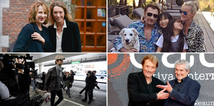 Photos : le clan Hallyday uni autour de Johnny​