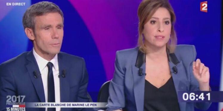 Léa Salamé explique enfin pourquoi David Pujadas lui a pris la main face à Marine Le Pen