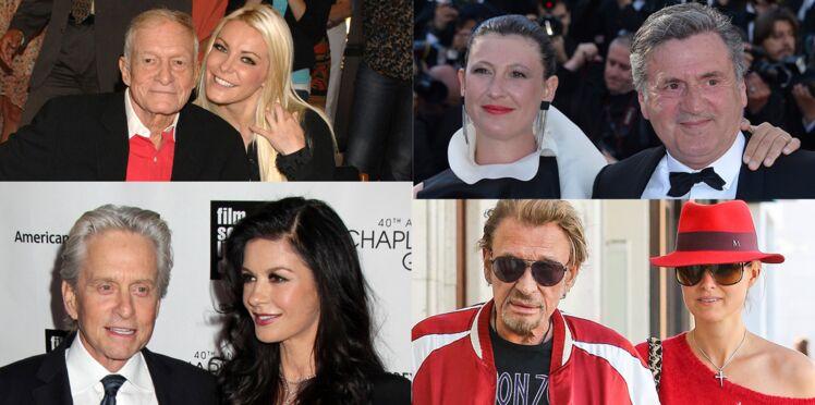 Les grandes différences d'âge dans les couples de stars