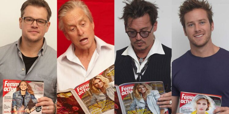Diapo photos : Johnny Depp, Michael Douglas, Matt Damon... tous fans de Femme actuelle !