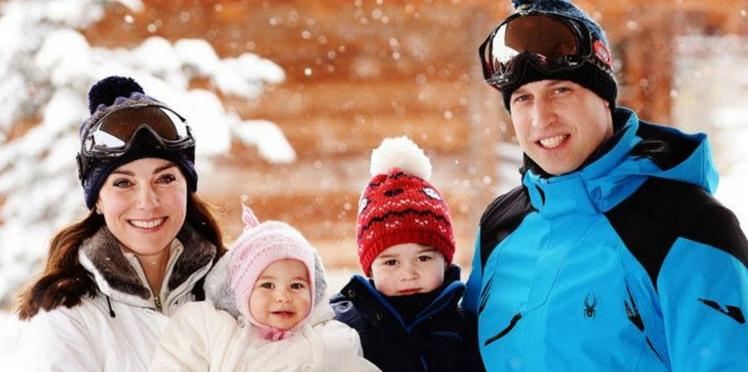 Enfin de nouvelles photos de la petite Charlotte qui s'amuse au ski, en famille