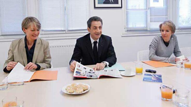 Nicolas Sarkozy rencontre les lectrices de Femme actuelle
