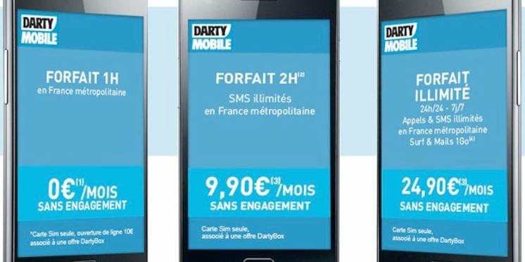 Après Free Mobile, Darty lance à son tour un forfait à 0 €
