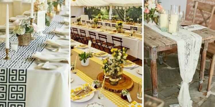 Déco de mariage : 40 jolis chemins de table repérés sur Pinterest