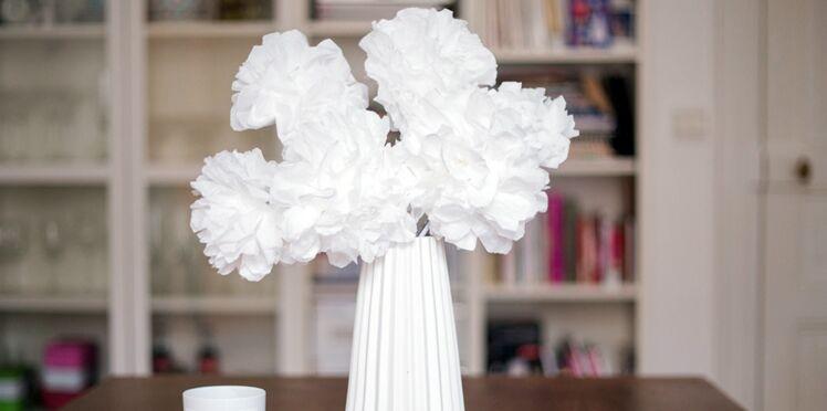 Déco de mariage tendance : les compositions florales en papier (vidéo)