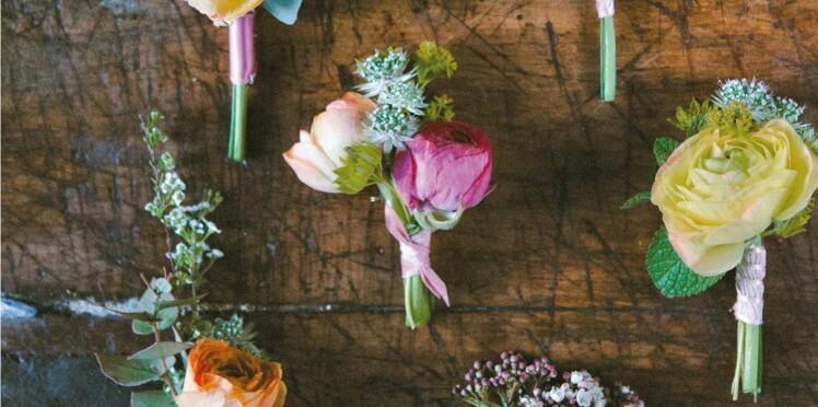 Déco mariage : je crée ma boutonnière fleurie
