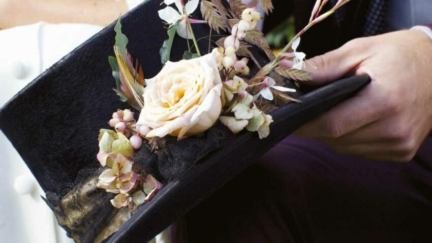 Déco mariage : je customise le chapeau du marié