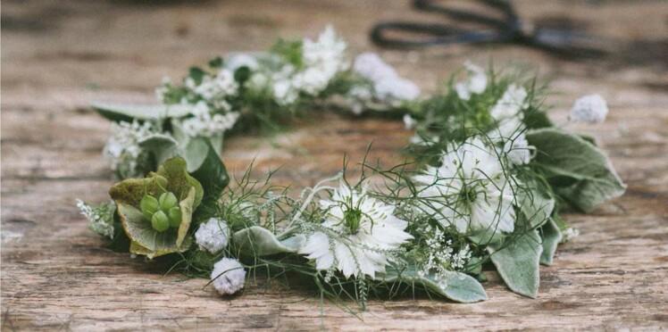Déco mariage : je crée une couronne de fleurs