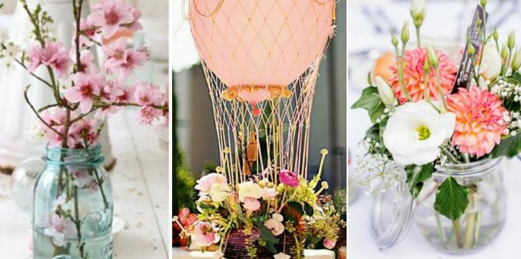 50 idées pour un centre de table de mariage repérées sur Pinterest