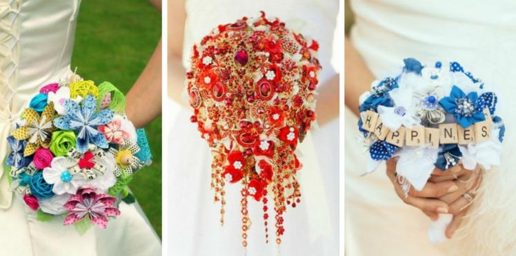 25 idées pour un bouquet de mariée... sans fleurs