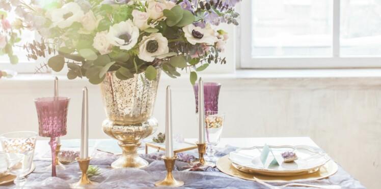 mariage quelle d coration pour la table des mari s femme actuelle le mag. Black Bedroom Furniture Sets. Home Design Ideas