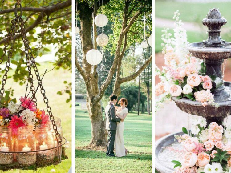 Mariage : 35 idées romantiques pour ma décoration extérieure : Femme ...