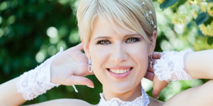 J'ai les cheveux courts: quels bijoux de mariage pour moi?