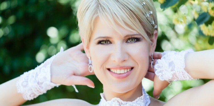 J\u0027ai les cheveux courts  quels bijoux de mariage pour