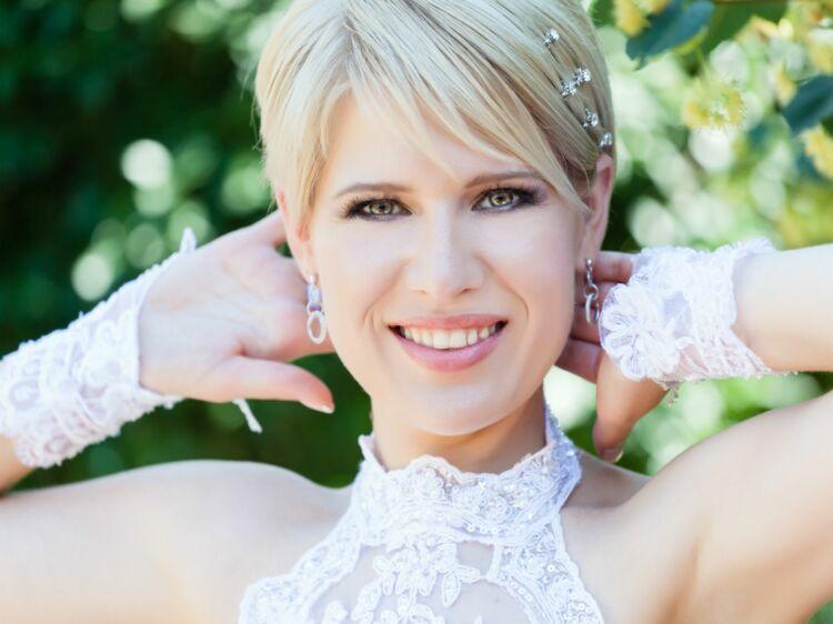 grand assortiment Nouvelle acheter J'ai les cheveux courts : quels bijoux de mariage pour moi ...