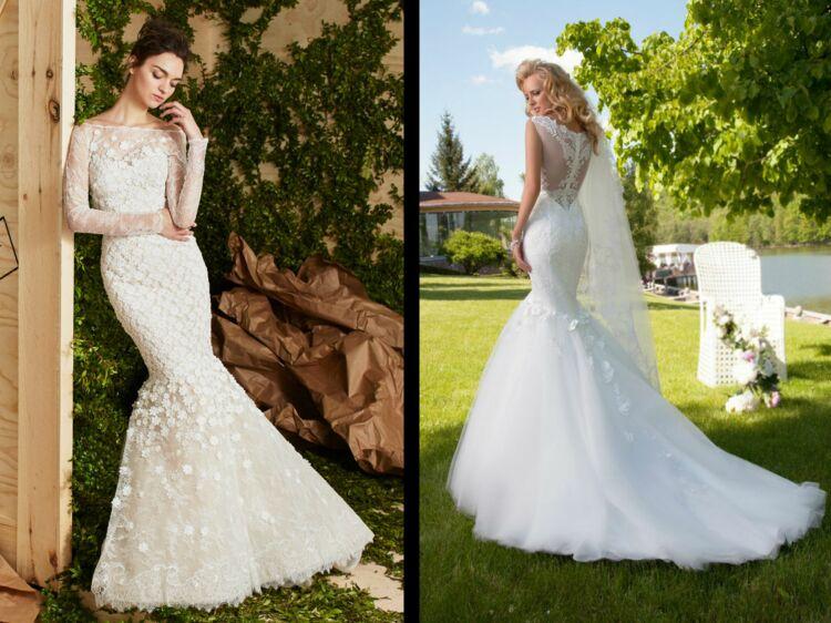 37a6ccec3a PHOTOS - 50 robes de mariée « sirène » pour être la plus belle le jour J :  Femme Actuelle Le MAG