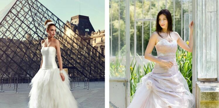 d89ee15d83f3de PHOTOS – Les plus belles robes de mariée bustier repérées chez les ...