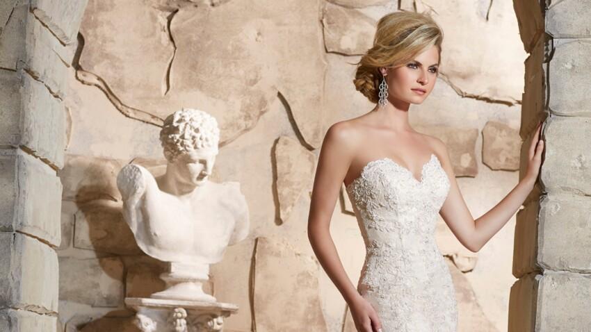 La robe de mariée en dentelle, c'est tendance !