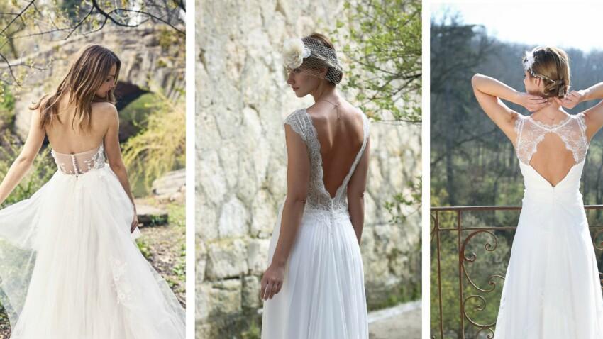 PHOTOS – Une robe de mariée dos nu pour mon