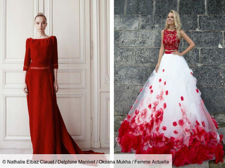 Mariage : j'ose la robe de mariée rouge ou