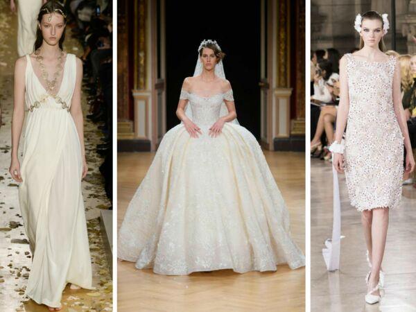 Inspiration  les plus belles robes de mariée haute couture repérées sur  les défilés