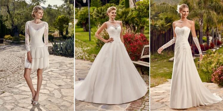 Robe de mariee noire et blanche point mariage