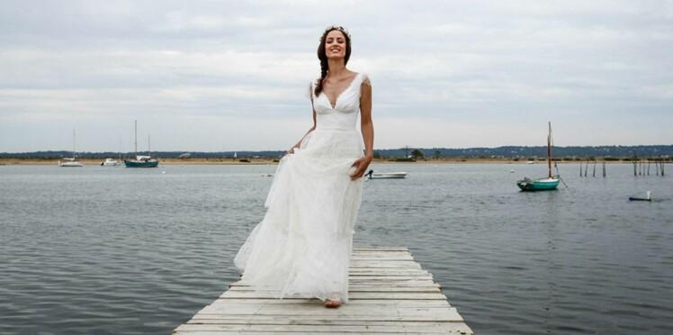 815312ce291 PHOTOS - 35 robes de mariée style empire pour un mariage royal ...