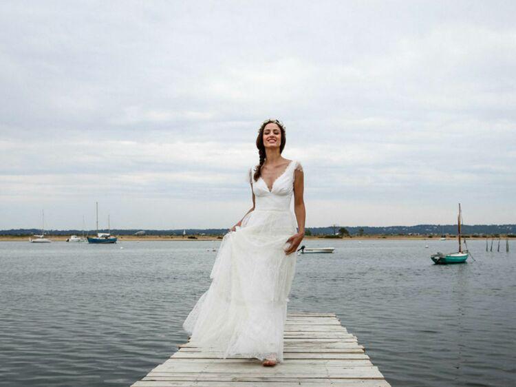 Robe pour mariage forme empire