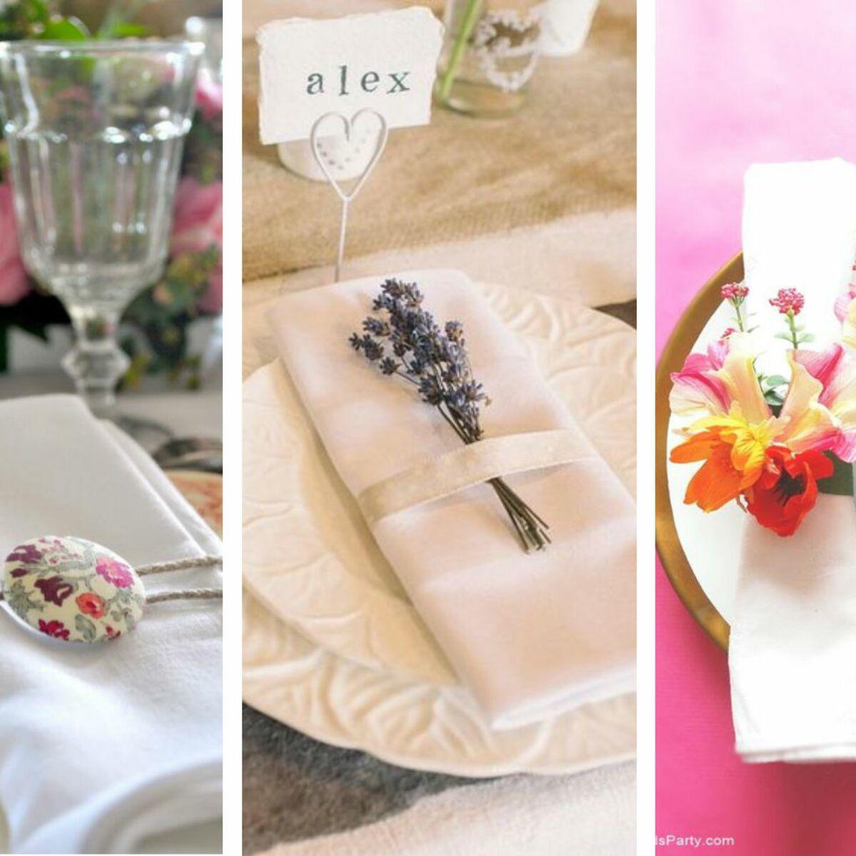 Diy Rond De Serviette rond de serviette : 50 idées pour ma table de mariage