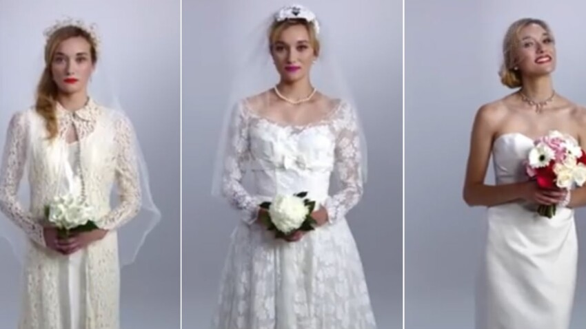 Petite histoire de la robe de mariée en 3 minutes (vidéo)