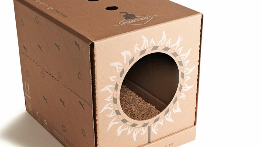 Une boîte à litière très ingénieuse