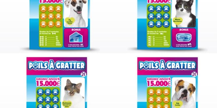 Les chiens et chats des Français, stars du nouveau ticket à gratter