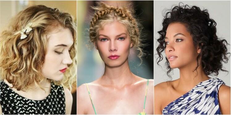 15 Coiffures D Ete Pour Cheveux Boucles Femme Actuelle Le Mag